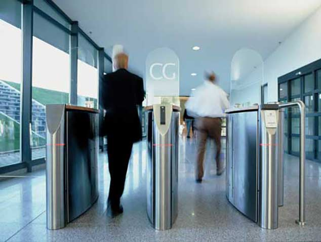 Dor-Control Craftsmen Install Optical Turnstiles