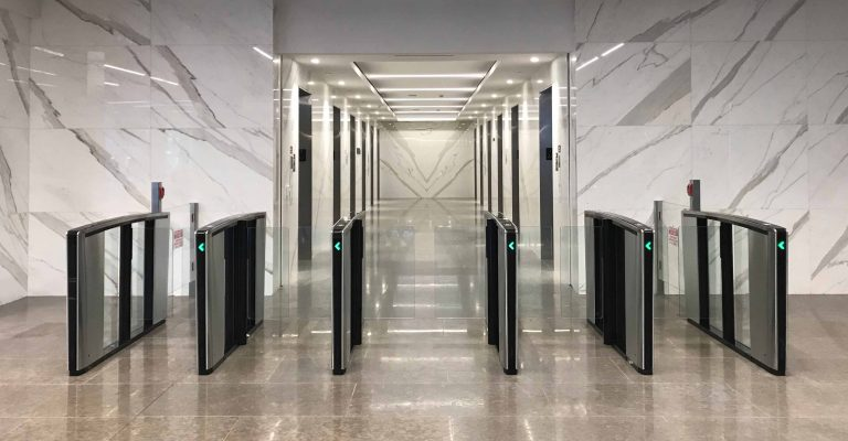 Optical Turnstiles Installed By Dor-Control Craftsmen At Bay Adelaide Centre Toronto
