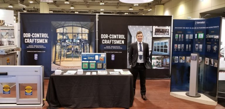 Dor-Control Craftsmen Commercial Automatic Doors Construct Canada Buildings Show 2018 Toronto, ON