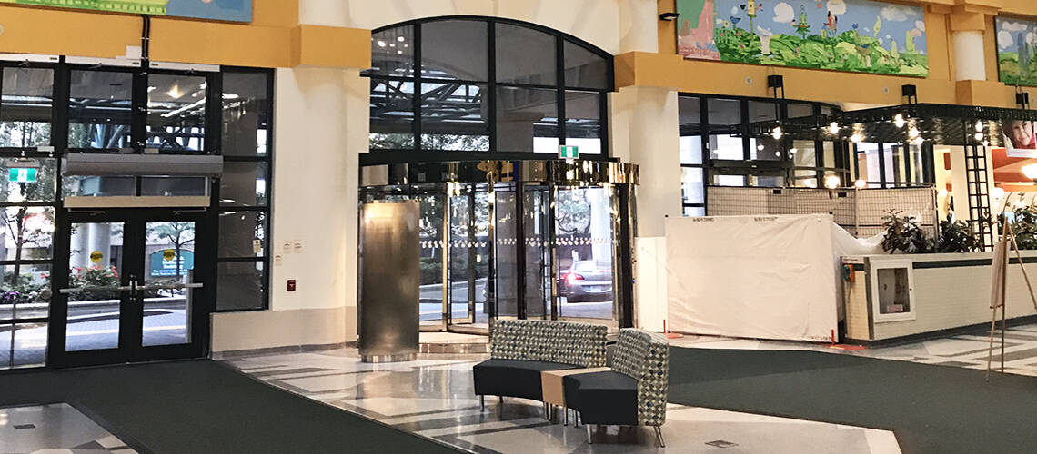 Revolving Door Improves Entrance At The Hospital For Sick