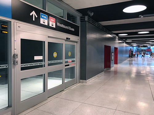 Dor-Control Craftsmen Installed Automatic Sliding Doors TTC Vaughan Metropolitan Centre