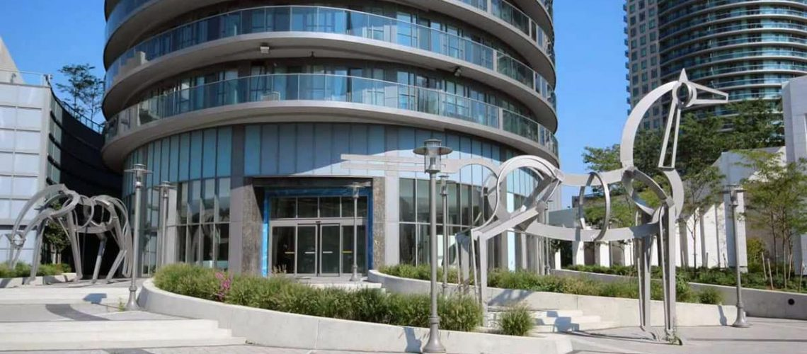 Dor-Control Craftsmen Installed Automatic Sliding Doors at Absolute Condos or Marilyn Monroe Condos in Mississauga ON